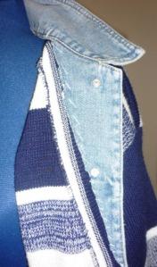 Crude hand sewn look